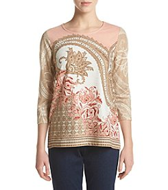 Alfred Dunner® Petites' Paisley Knit Top