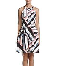 Vince Camuto® Geo Fit And Flare Dress