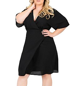 Standards & Practices Plus Size Candice Wrap Knee Dress