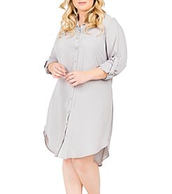 Standards & Practices Plus Size Solenn Shirt Dress
