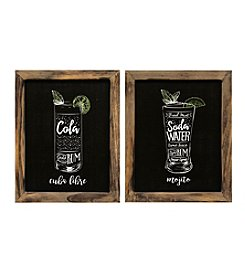 Stratton Home Décor Set of 2 Cocktails Wall Art
