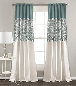 Lush Decor Estate Garden Print Room Darkening Window Curtain Set