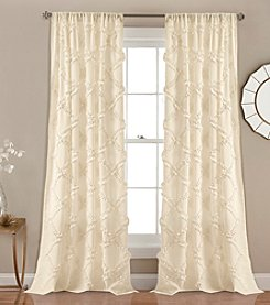 Lush Decor Ruffle Diamond Window Curtain Set