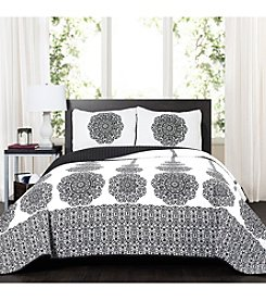 Lush Decor Stripe Medallion 3-Piece Quilt Set