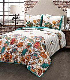 Lush Decor Bird and Flower 3-Piece Quilt Set