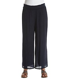 AGB® Plus Size Navy Soft Pants