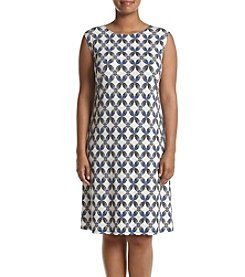 Kasper® Plus Size Printed Cobalt Dress