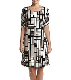 Kasper® Abstract Printed Dress