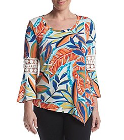Studio Works® Petites' Printed Bell Sleeve Top