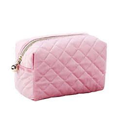Tricoastal Pink Velvet Cosmetic Bag