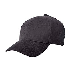 Collection 18 Black Lace Satin Baseball Hat