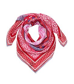 Cejon® Red Multi Gypsy Summer Square Scarf