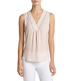 Ivanka Trump® Metallic V-Neck Top
