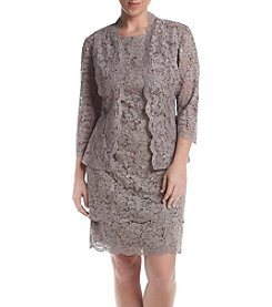 R&M Richards® Petites' Lace Jacket Dress