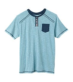 Distortion® Boys' 8-20 Short Sleeve Henley Tee