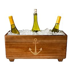 Cathy's Concepts Wooden Anchor Wine Trough