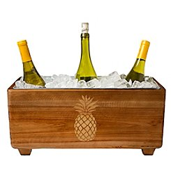 Cathy's Concepts Wooden Pineapple Wine Trough