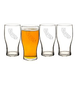 Cathy's Concepts My State 19-oz. Beer Pilsner Glasses