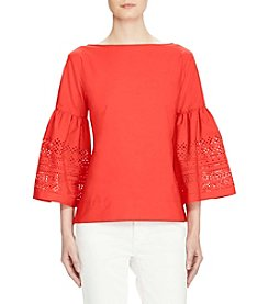 Lauren Ralph Lauren® Petites' Eyelet-Embroidered Top