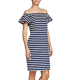 Lauren Ralph Lauren® Petites' Striped Off The Shoulder Dress