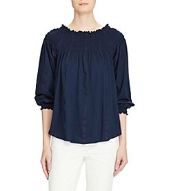 Lauren Ralph Lauren® Petites' Smocked Off The Shoulder Top