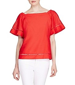 Lauren Ralph Lauren® Petites' Cotton Silk Off The Shoulder Top