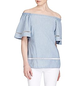Lauren Ralph Lauren® Petites' Chambray Off The Shoulder Top