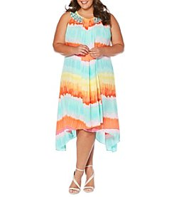 Rafaella® Plus Size Watercolor Stripe Dress