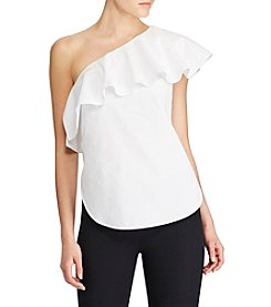 Lauren Ralph Lauren® Ruffled One-Shoulder Poplin Top