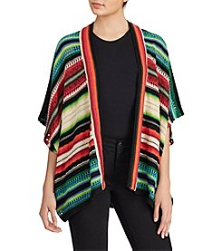 Lauren Ralph Lauren® Striped Open-Front Cardigan