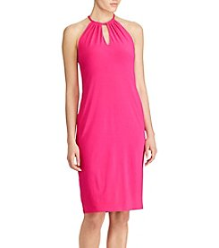 Lauren Ralph Lauren® Stretch Jersey Halter Dress