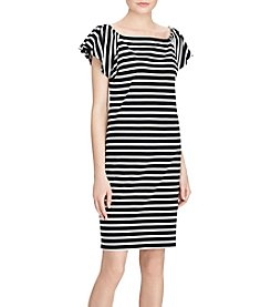 Lauren Ralph Lauren® Striped Off-The-Shoulder Dress