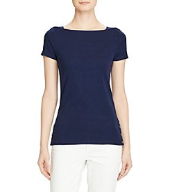 Lauren Ralph Lauren® Cotton Boatneck Tee