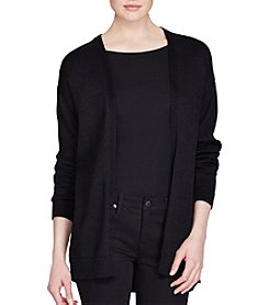 Lauren Ralph Lauren® Cotton Open-Front Cardigan