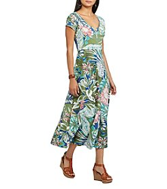 Chaps® Floral Jersey Maxi Dress