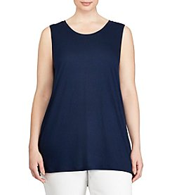 Lauren Ralph Lauren® Plus Size Jersey Sleeveless Top