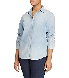 Lauren Ralph Lauren® Plus Size Chambray Shirt