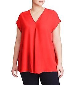 Lauren Ralph Lauren® Plus Size Georgette Short-Sleeve Top