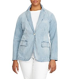 Lauren Ralph Lauren® Plus Size Single-Button Denim Blazer