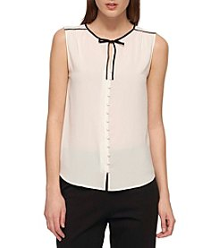 Tommy Hilfiger® Tie Neck Blouse