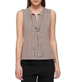 Tommy Hilfiger® Stripe Tie Neck Blouse