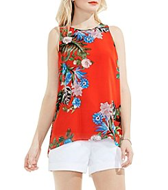 Vince Camuto® Havana Tropical High-Low Hem Blouse