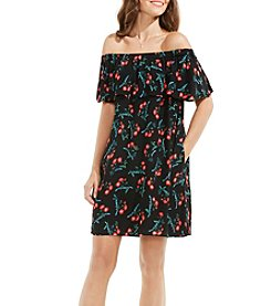 Vince Camuto® Ruffle Off-Shoulder Tropic Spritz Dress
