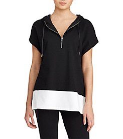 Lauren Ralph Lauren® Color-Blocked Sleeveless Hoodie