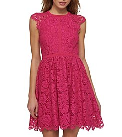 Jessica Simpson Mock Neck Lace Dress