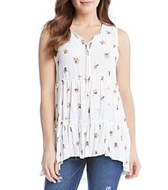 Karen Kane® Ballerina Sleeveless Tier Blouse