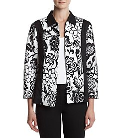 Alfred Dunner® Petites' Floral Printed Color Blocked Jacket