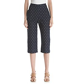 Alfred Dunner® Petites' Lady Liberty Star Print Capris