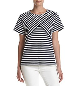 Alfred Dunner® Petites' Studded Striped Tee