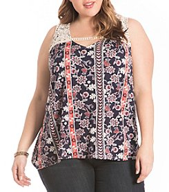 Eyeshadow® Plus Size Allover Printed Tank
